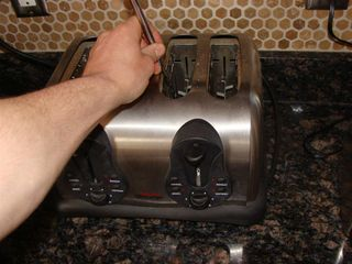Knife in Toaster