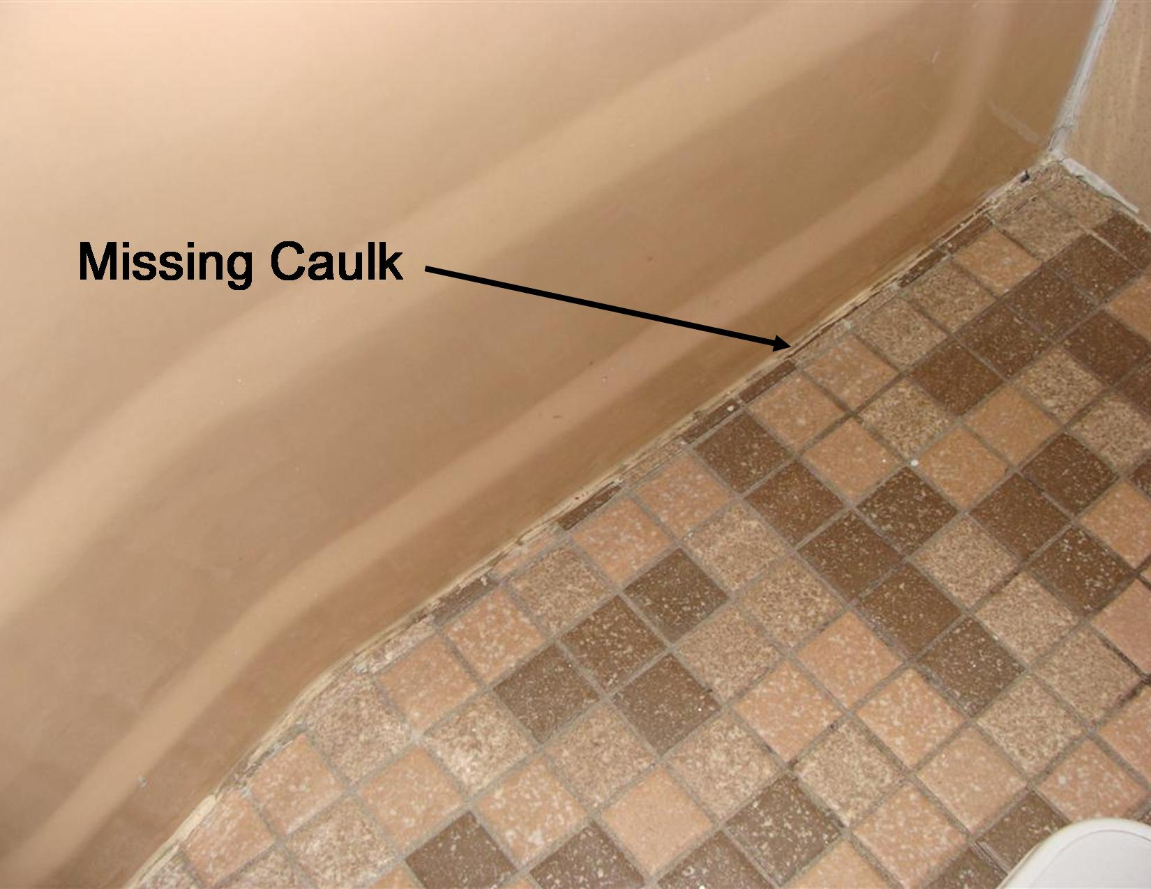 Finding shower leaks gap at tub and floor dailygadgetfo Choice Image