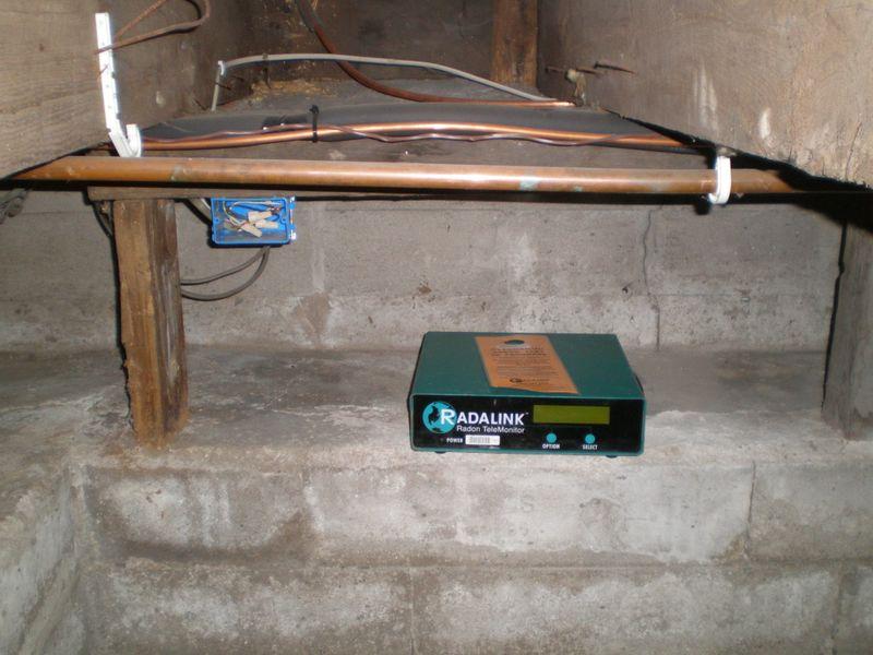 Radon Monitor In Crawl Space