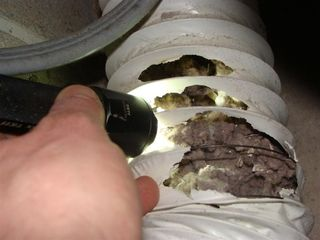 Clogged Dryer Duct