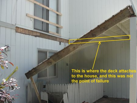 Coon Rapids Deck Collapse Ledgerboard