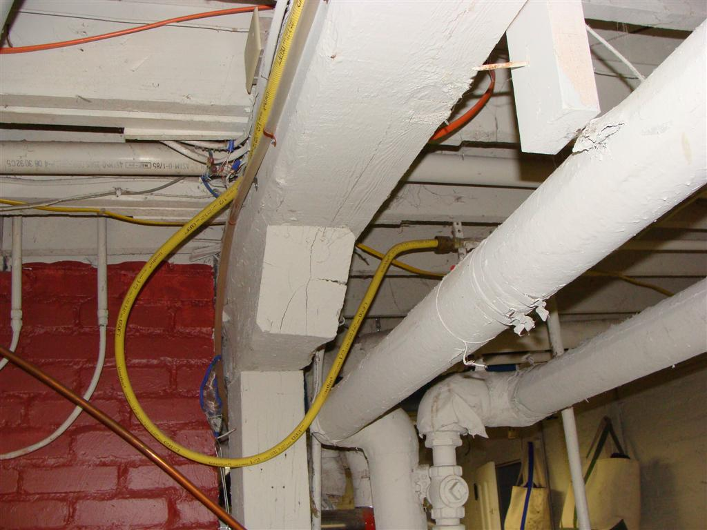 Corrugated Stainless Steel Tubing Csst The New Gas Line Thread Wiring Recessed Lighting In Basement Installed