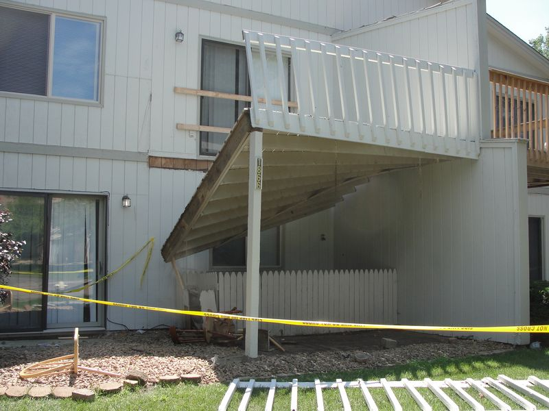 Coon Rapids Deck Collapse 1