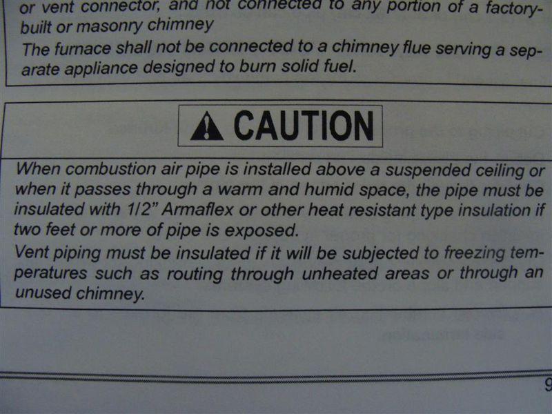 HVAC - missing insulation on vent 2