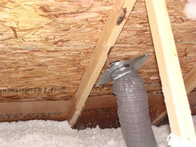 Attics - loose bath fan duct