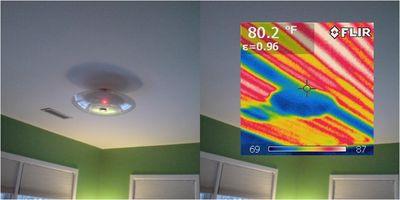 IR Image - ceiling heat
