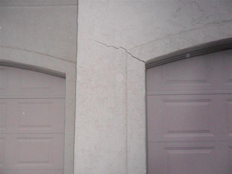 Stucco Crack