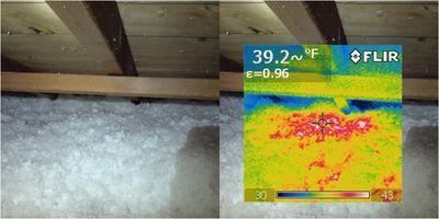 IR Image - warm attic