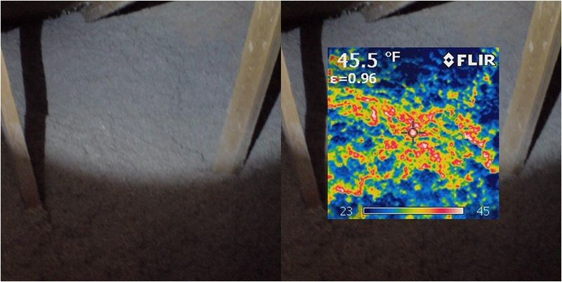 IR Image - uninsulated ductwork