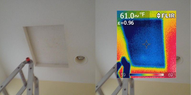 IR Image - attic panel