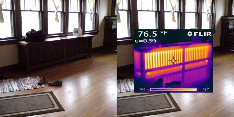 IR Image - radiator