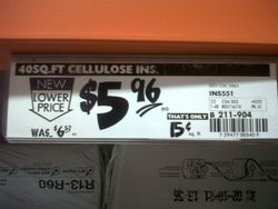 Price Tag at Home Depot
