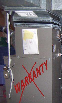 Furnace-no warranty