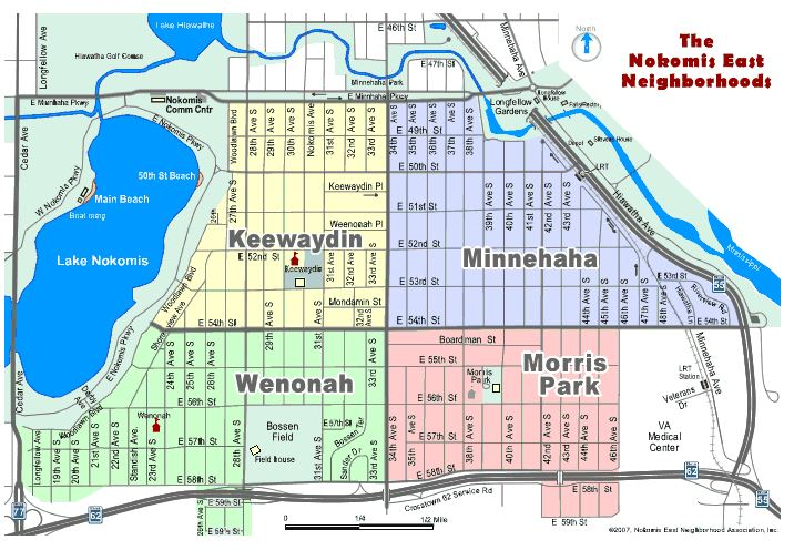 Minnehaha-nokomis east map1