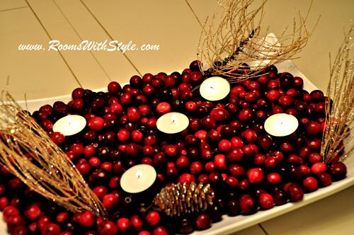 Cranberries in Tray