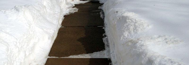 Snow-sidewalk