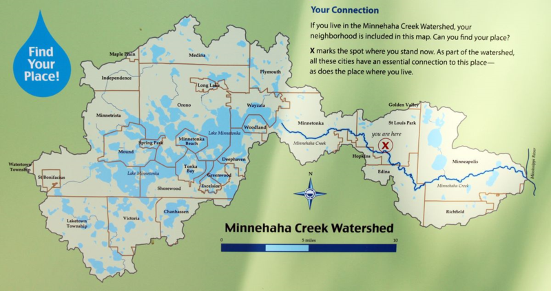 Minnehaha creek-watershed map