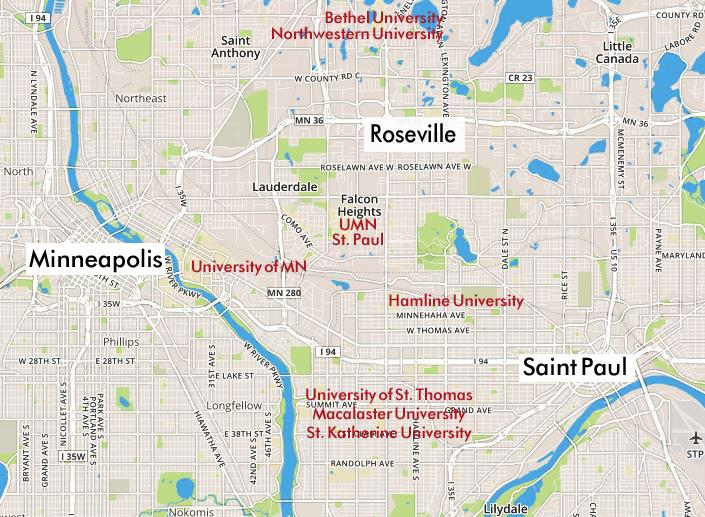 Roseville-universities