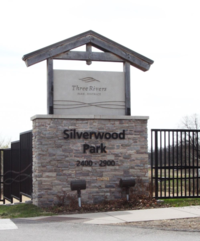 Silverwood Park sign