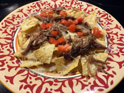 Pulled-pork nachos